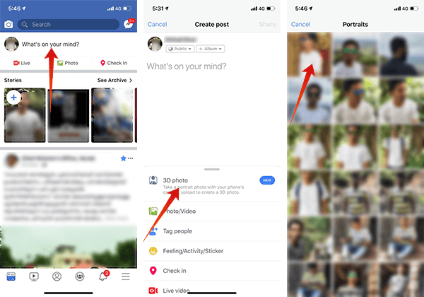 Howto Create 3D Photos and Post on Facebook