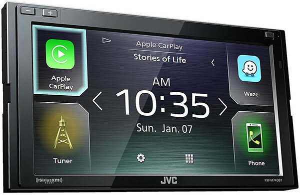 JVC KW-M740BT Apple CarPlay, Android Auto 2-DIN AV Receiver