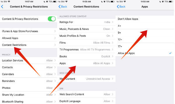 iPhone Lock WhatsApp using Restrictions