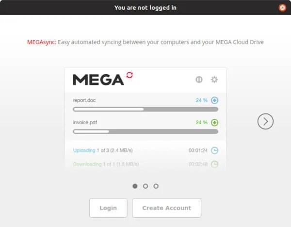 Mega desktop sync