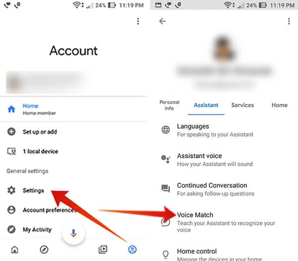 Set up Voice Match on Google Home