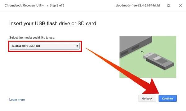 Select USB