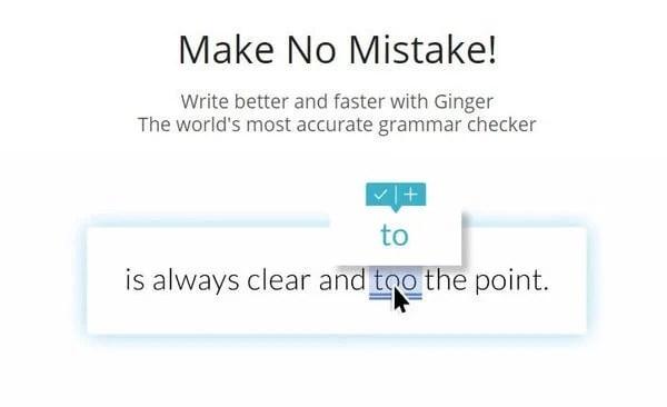 Ginger grammar checking tool