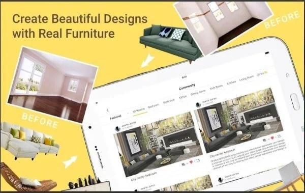 Creative and beautiful designs using Homestyler app