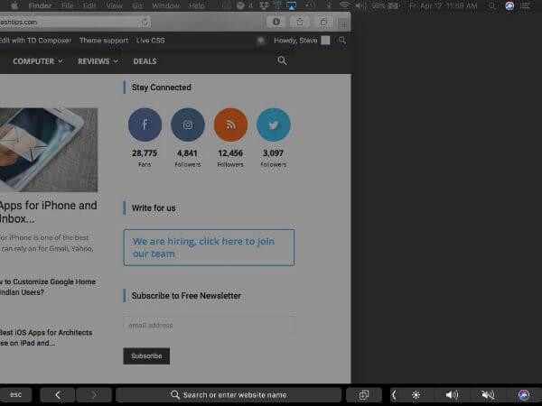 Mac Secondary Screen on iPad