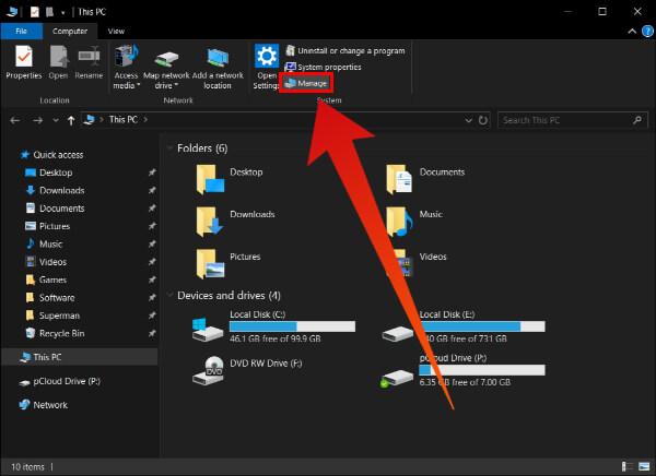 Computer Management Windows 10