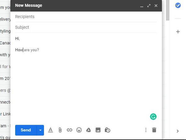 Smart Compose feature on Gmail