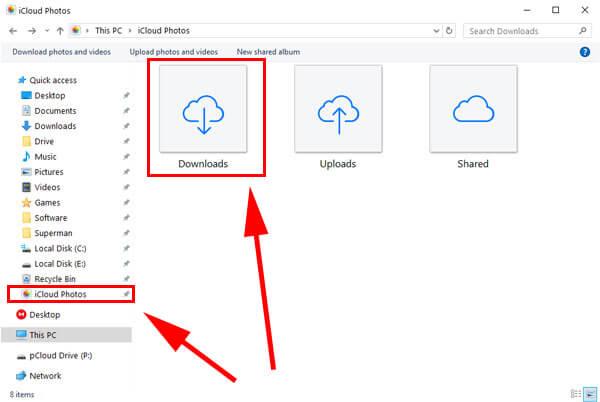 iCloud in File explorer