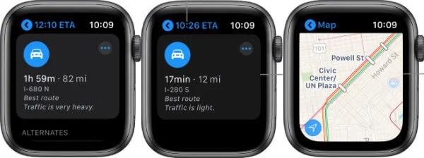 Apple Map in Apple Watch