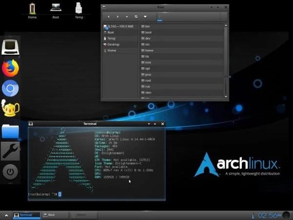 Arch Linux light Linux distro
