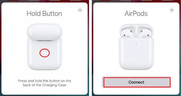 Hold AirPods Button to Connect