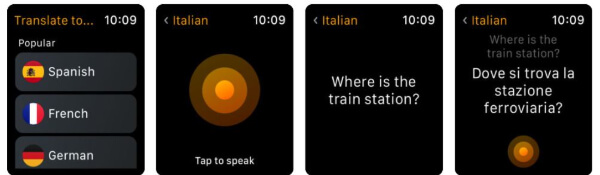 iTranslate Converse travel app for Apple Watch