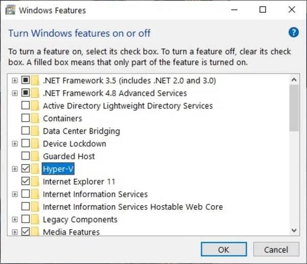 Enable Virtualization on Windows 10