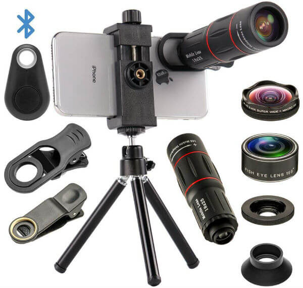 Mocalaca 4 in 1 Phone Camera Lenses Kit