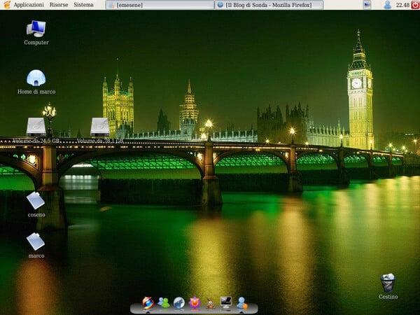 MacOS like Linux dock: Simdock
