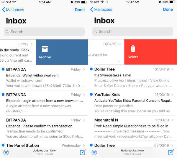 iPhone-delete-or-archive-email