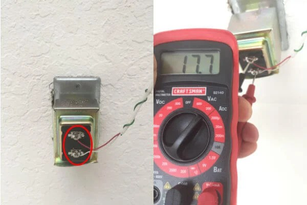 Ring Transformer Connected Voltage