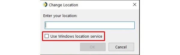 select location for dynamic desktop