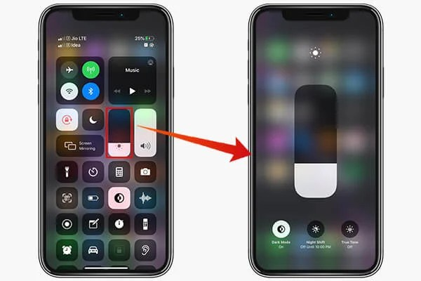 Adjust Display Modes from Control Center on iOS 13