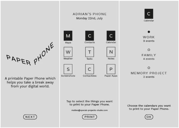 Google Digital Wellbeing App: Paper Phone