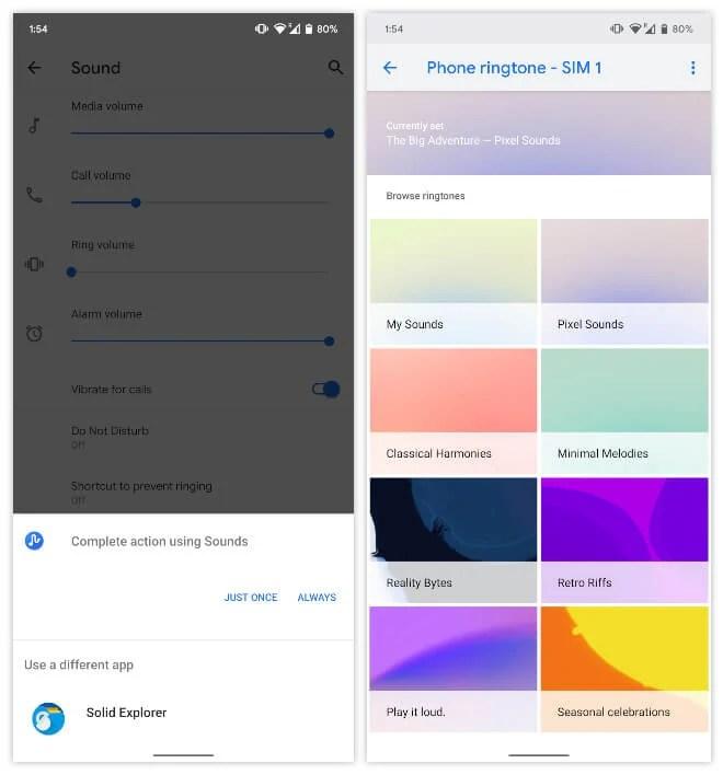 Select Ringtone picker app