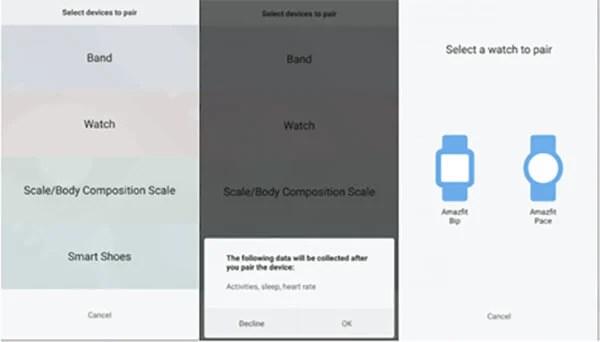 Mi Fit App to connect Amazfit Bip