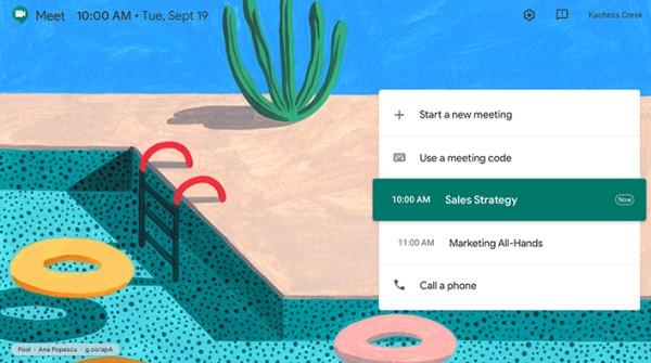 google meet lienzo fondo de pantalla