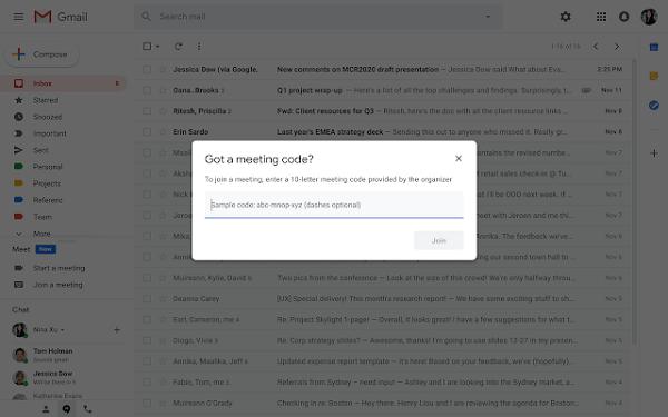 google se encuentra en gmail
