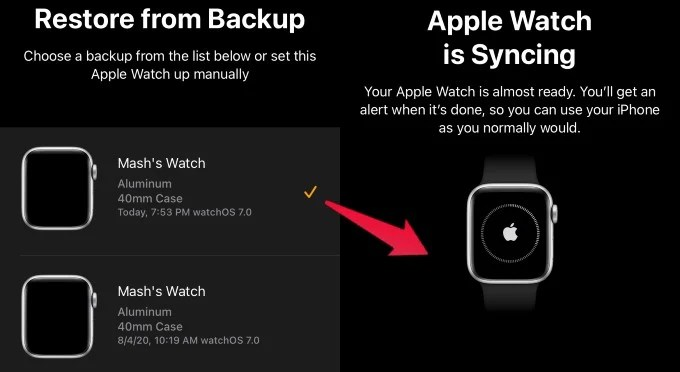 Appel Watch Force Sync