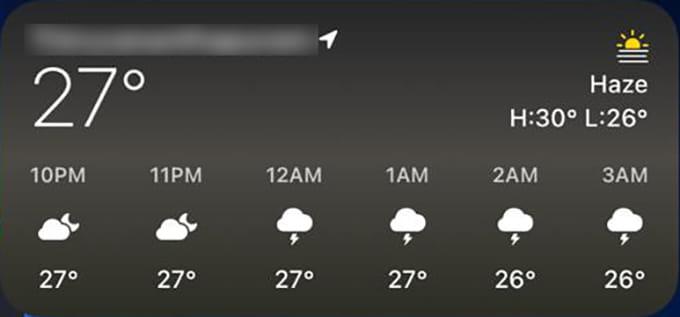 Weather iPhone Widget