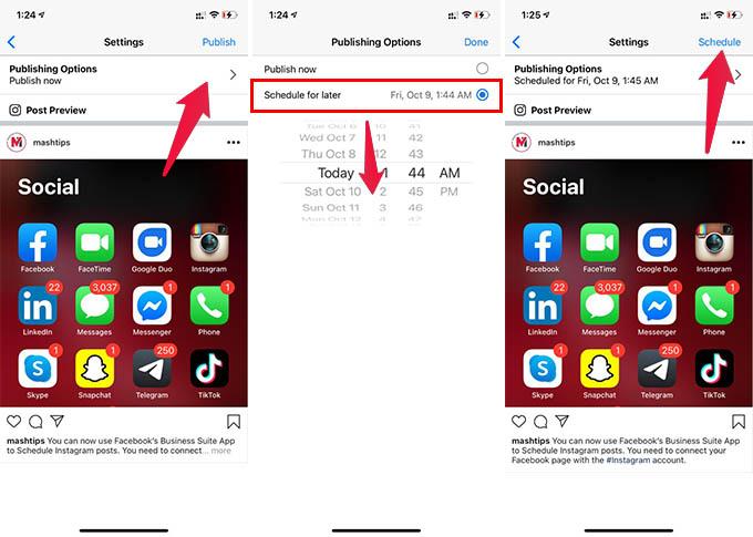 Schedule Instagram Posts Facebook Business Suite App