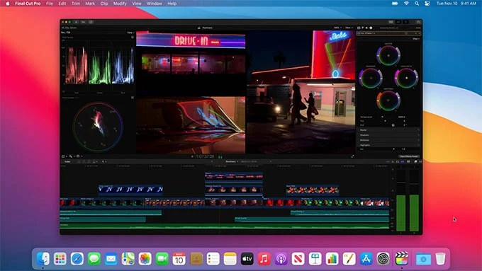 Apple Final Cut Pro X on MacBook Air M1 and MacBook Pro M1