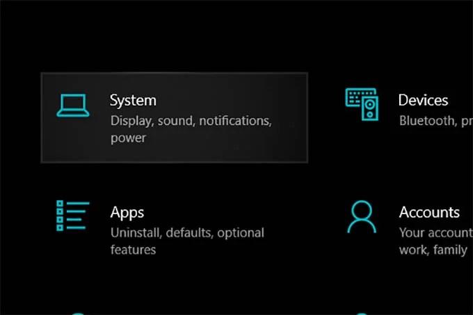 Windows 10 System Settings