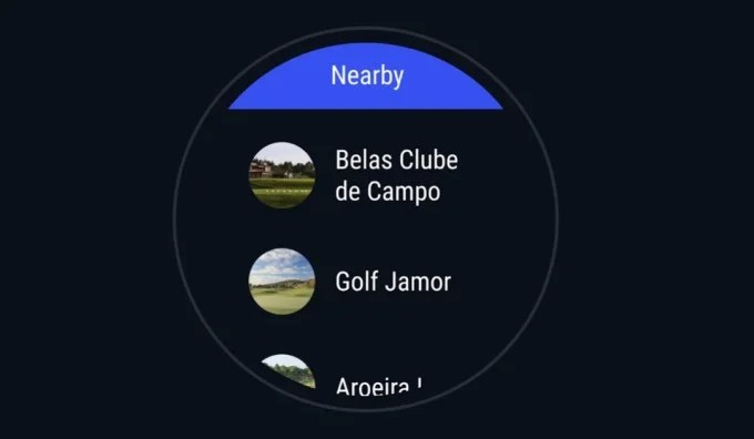Hole19 smartwatch view