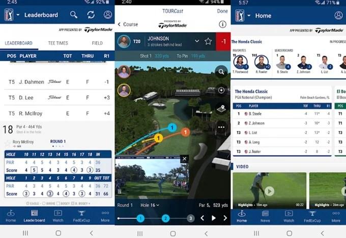 PGA tour app