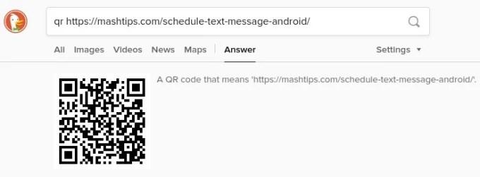 Generate QR Code Using DuckDuckGo