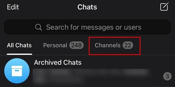 Telegram Channel Filter Folder