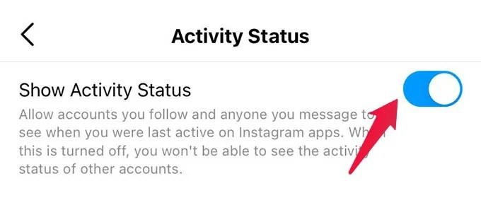Turn Off Activity Status in Instagram