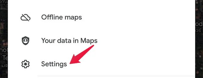 Google Maps Settings