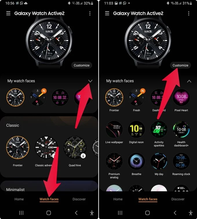 Change Galaxy Watch Face from Phone