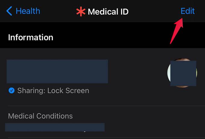 Edit Medical ID on iPhone