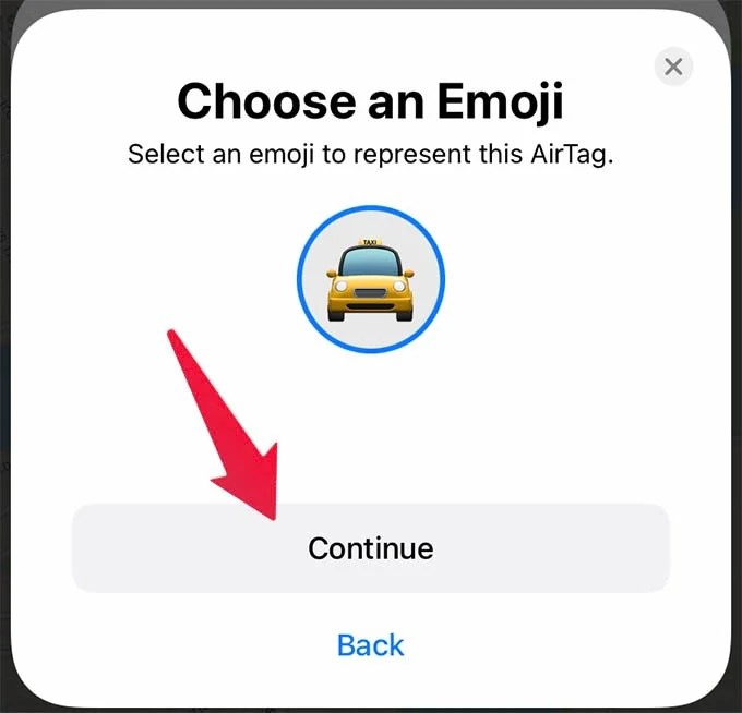 Choose Emoji for Apple AirTag