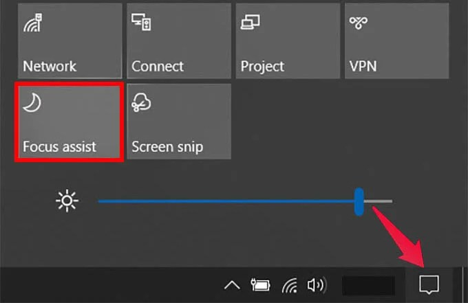 Put Computer in Do Not Disturb with Windows 10 Focus Assist