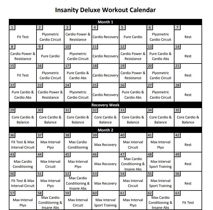 It is a graphic of Satisfactory Insanity Schedule Printable
