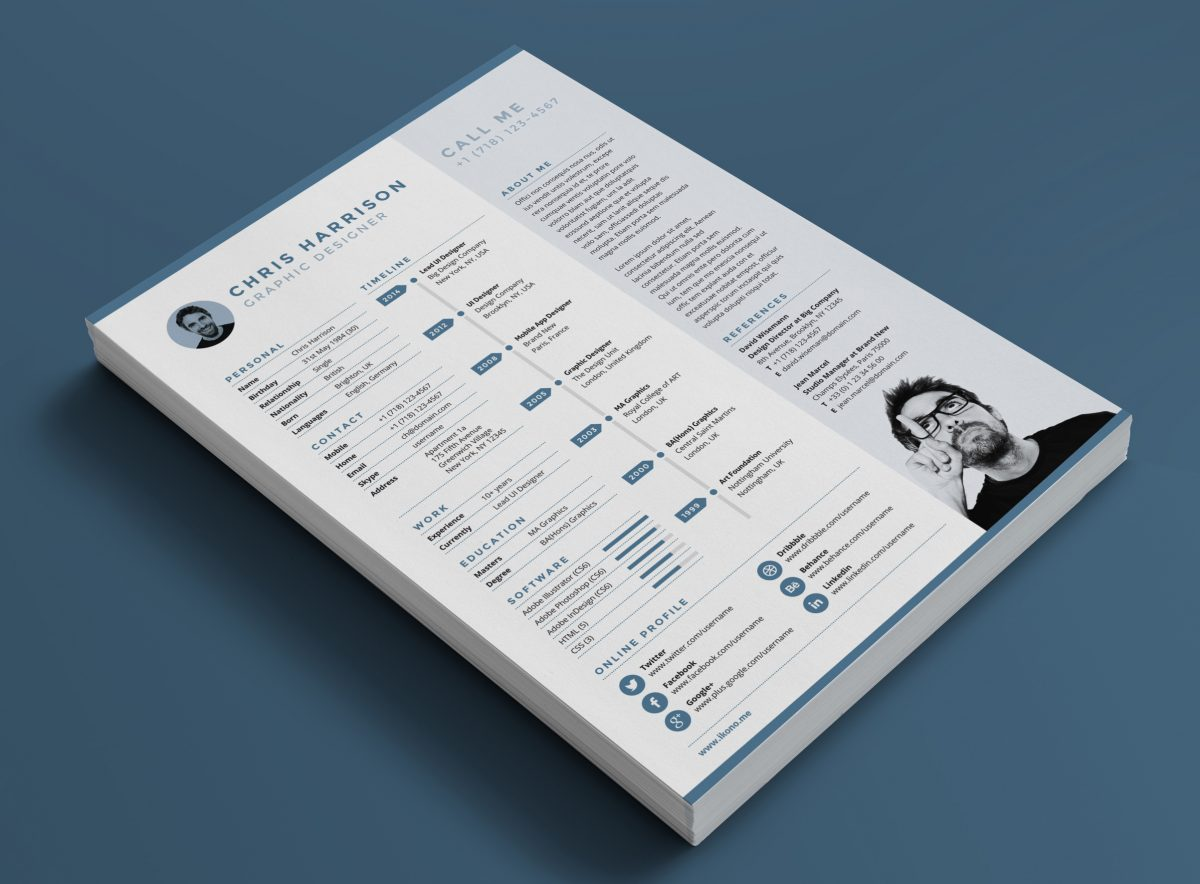 Resume Indesign 75 43 Best Free Resume Templates For 2018 Updated