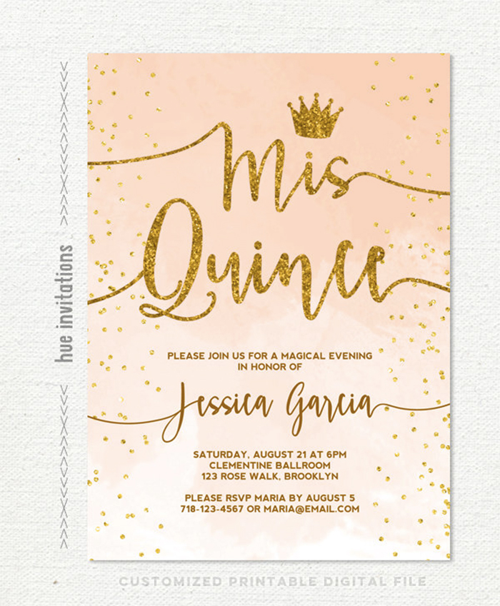 photograph regarding Printable Quinceanera Invitations referred to as Quinceanera Invites - Anarchistshemale