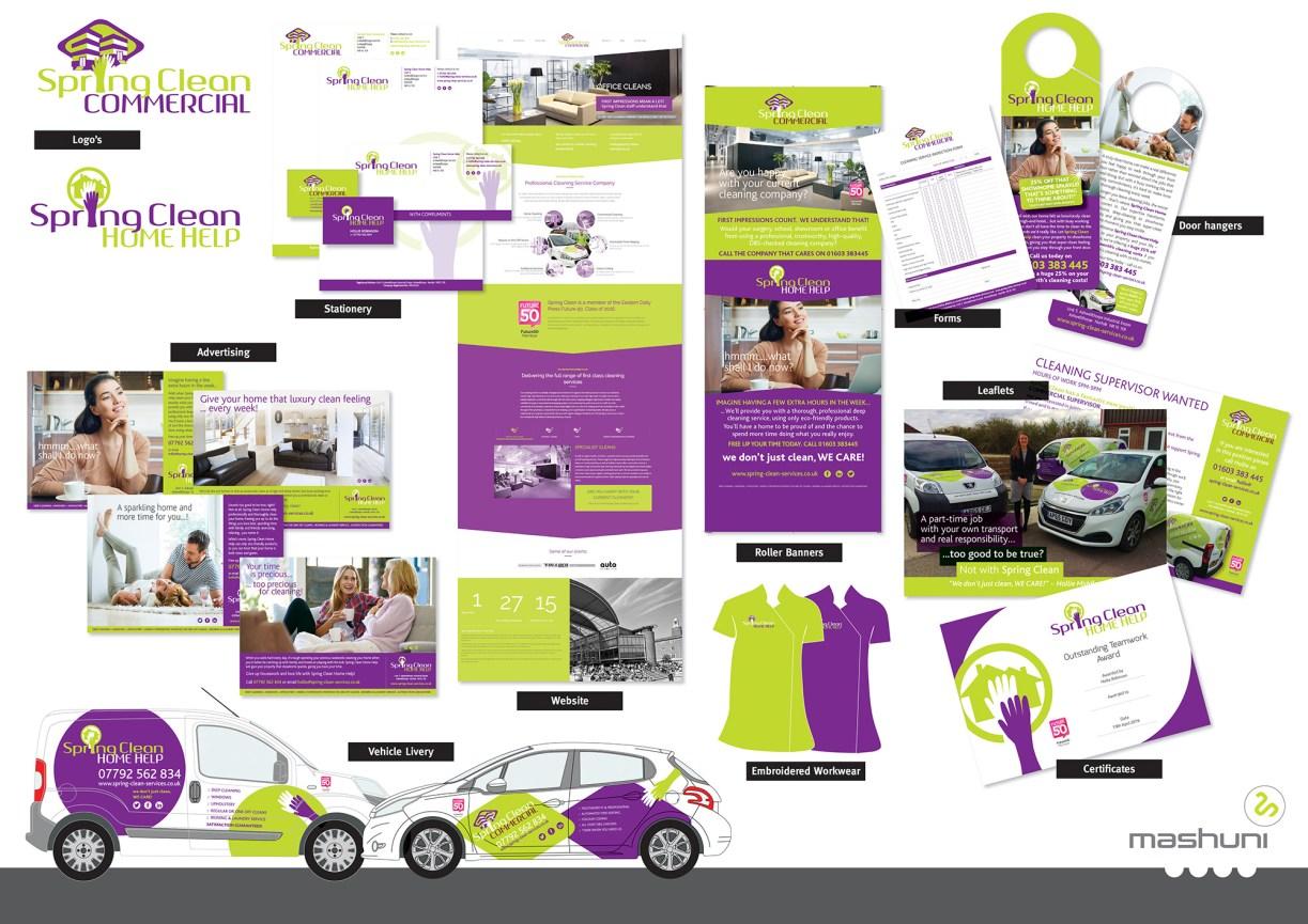 Norfolk based creative design agency Mashuni creates a brand identity for Spring Clean