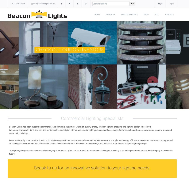 mashuni designed website for Beacon Lights