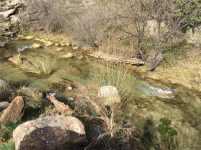 7 El rio a principios de primavera, limpio y sin palanca!!