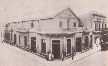 Imagen de la primera fábrica de dulces Noel en Buenos Aires